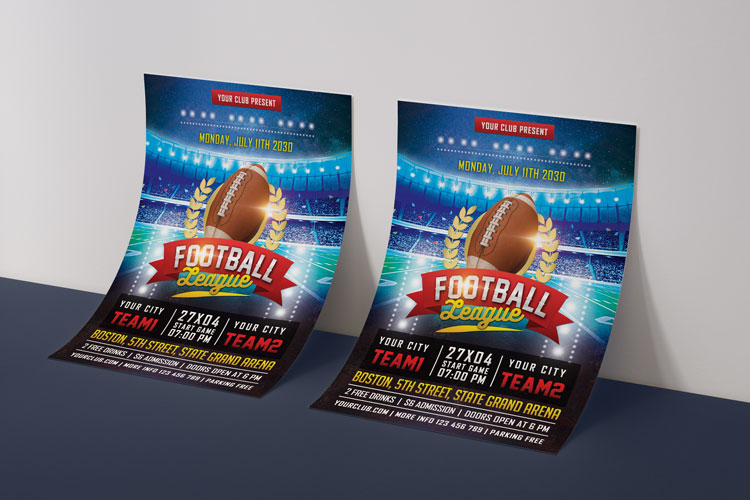 AMERICAN FOOTBALL FLYER example image 4