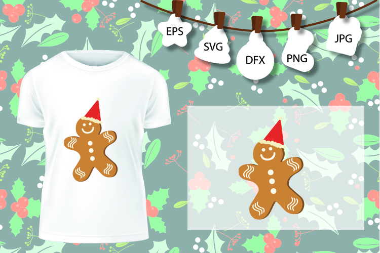 Cookie Candy Cane Christmas Cuttable Design SVG PNG DXF example image 2