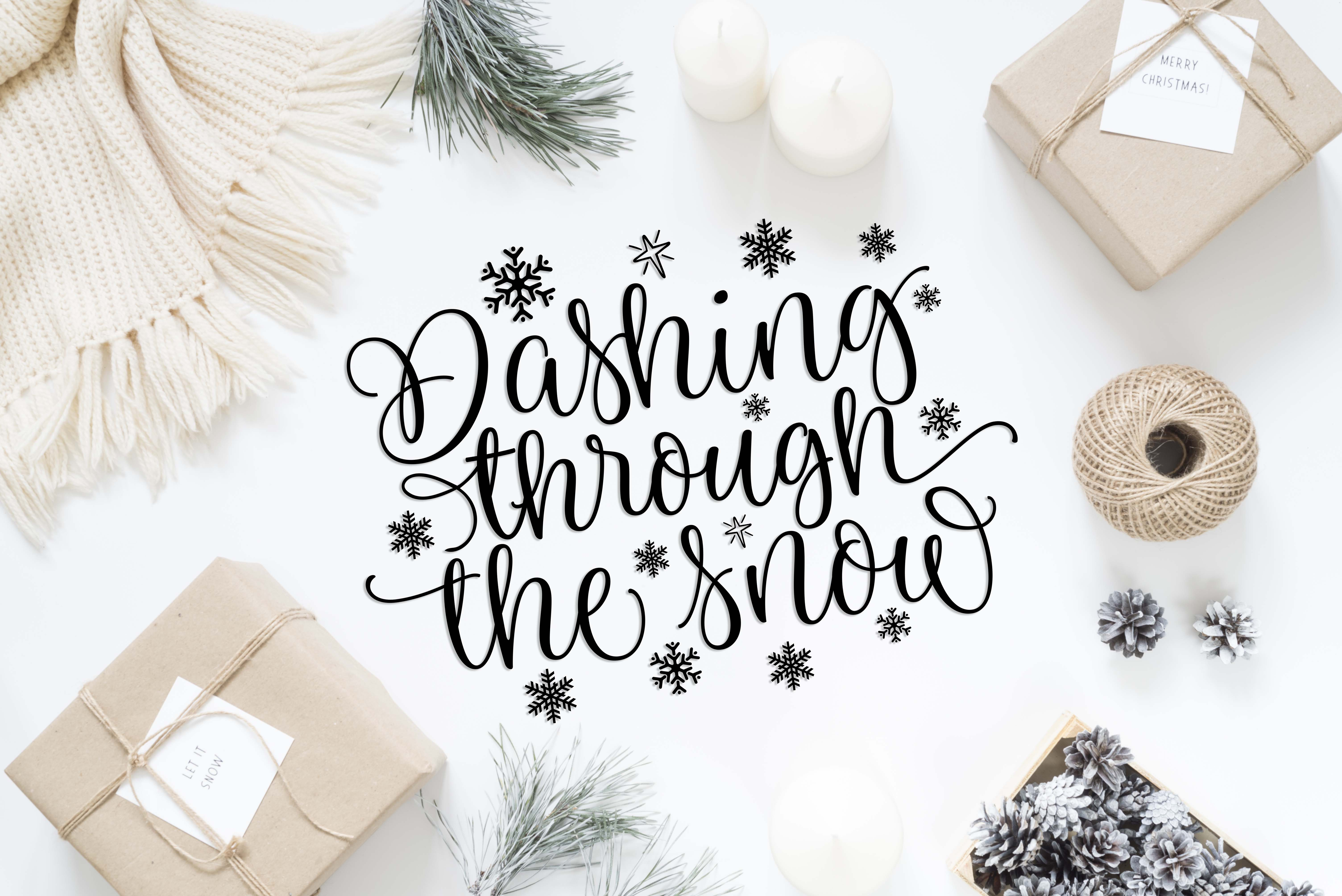 Dashing through the snow SVG DXF PNG example image 3