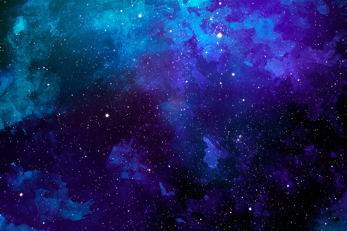 Space Watercolor Backgrounds example image 7