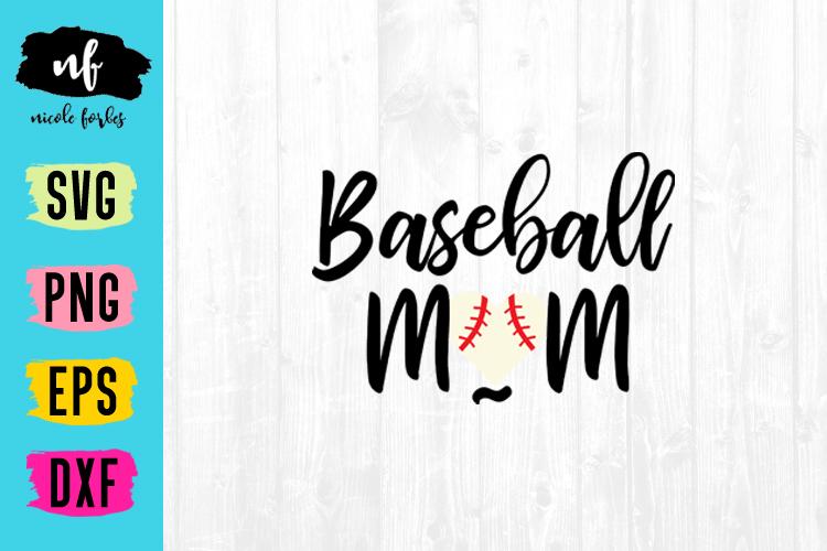 Baseball Mom Baseball SVG Cut File example image 1