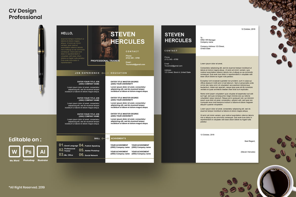 Resume Template CV Mega Bundles Professional !! example image 8