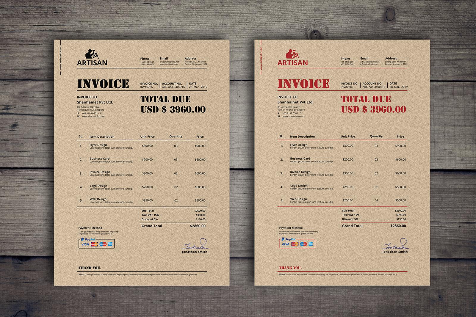 Retro Invoice example image 3