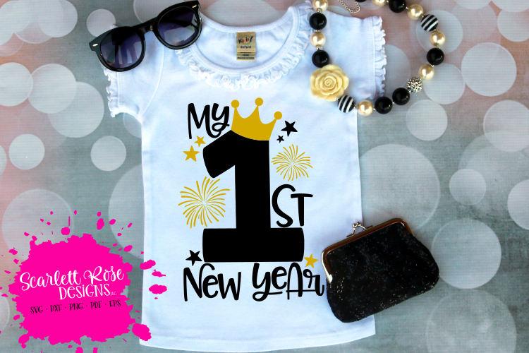 My First New Year - Girl - New Year's SVG example image 1