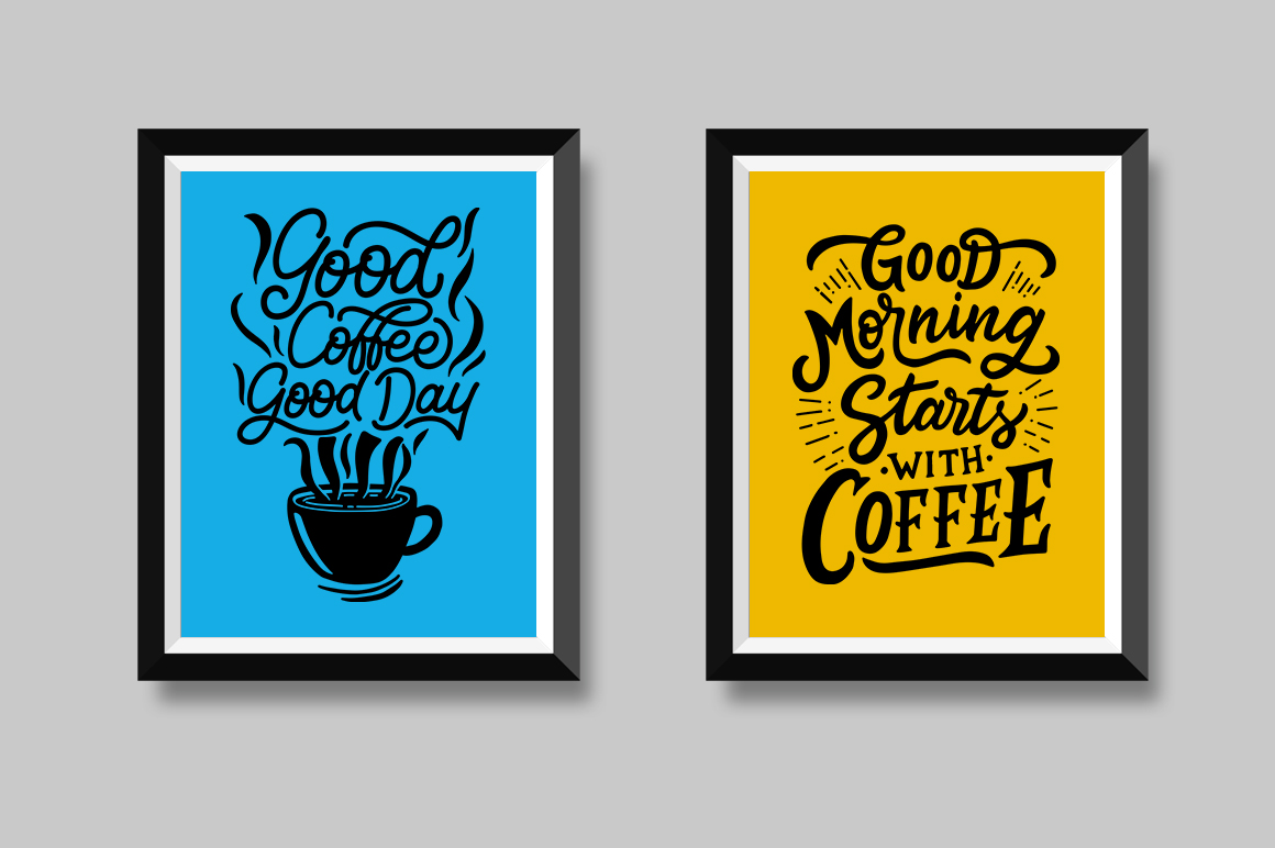 Set of Hand Lettering Coffee Quotes - SVG Cut File Bundle example image 5