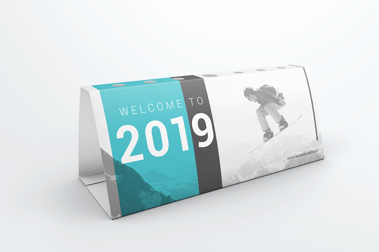 Desk Calendar Pen Holder Mockup example image 2