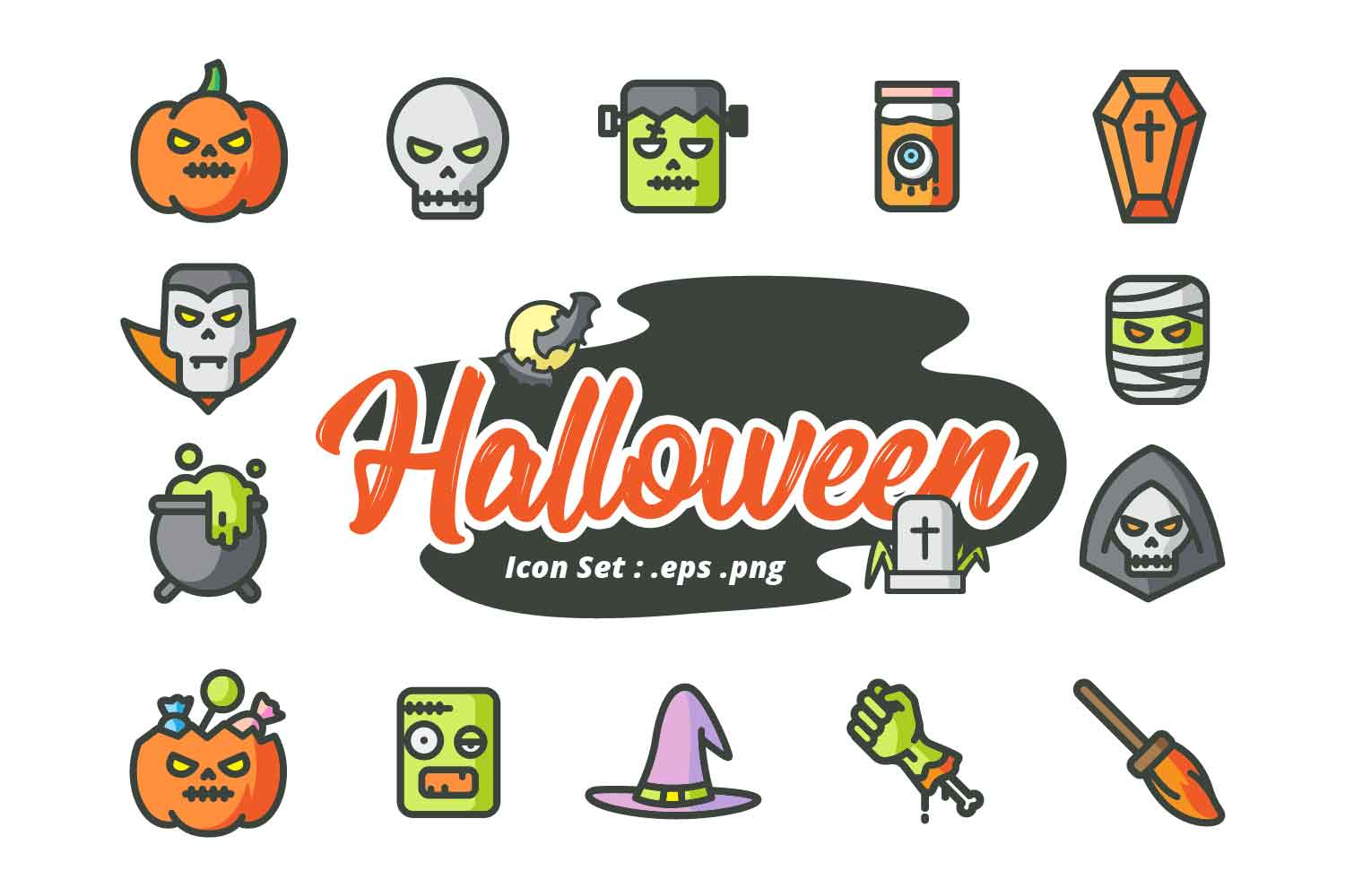 HALLOWEEN ICON SET example image 1