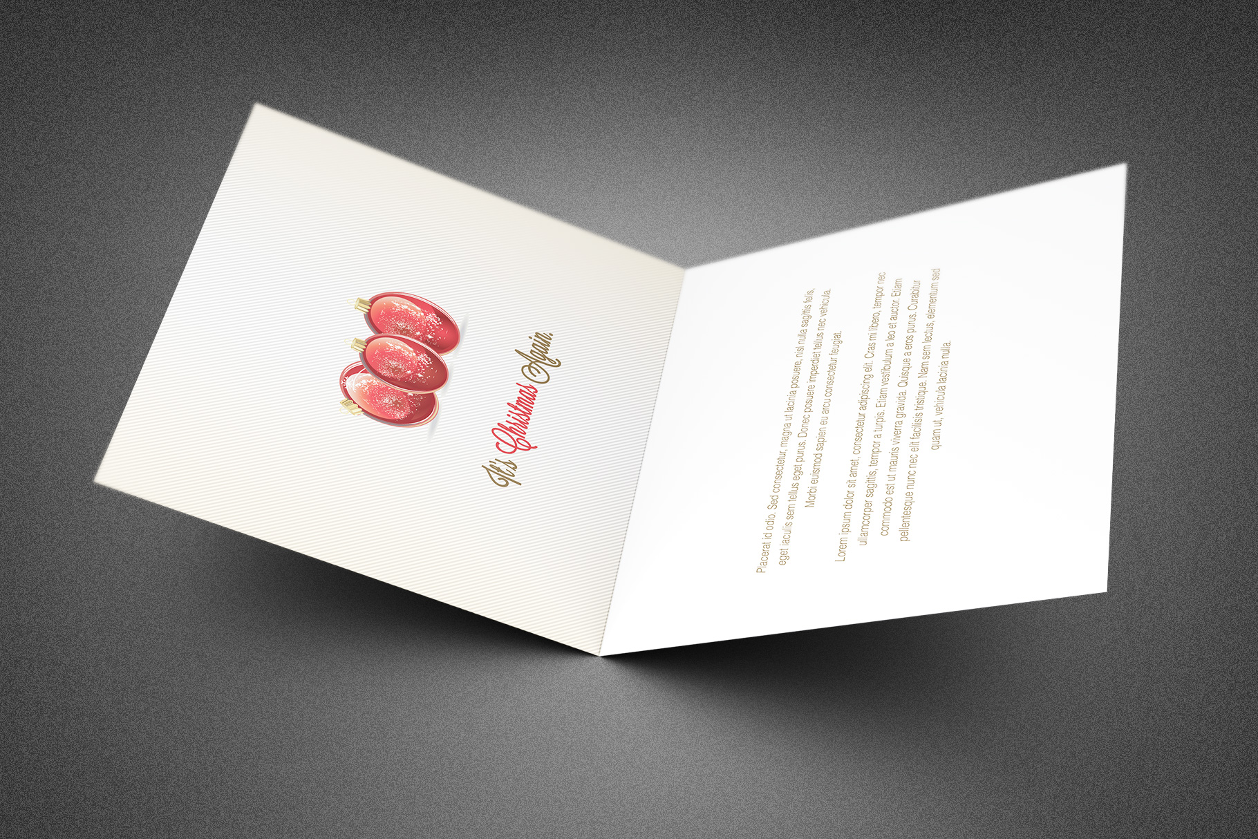 Classic Christmas Greeting Card example image 2