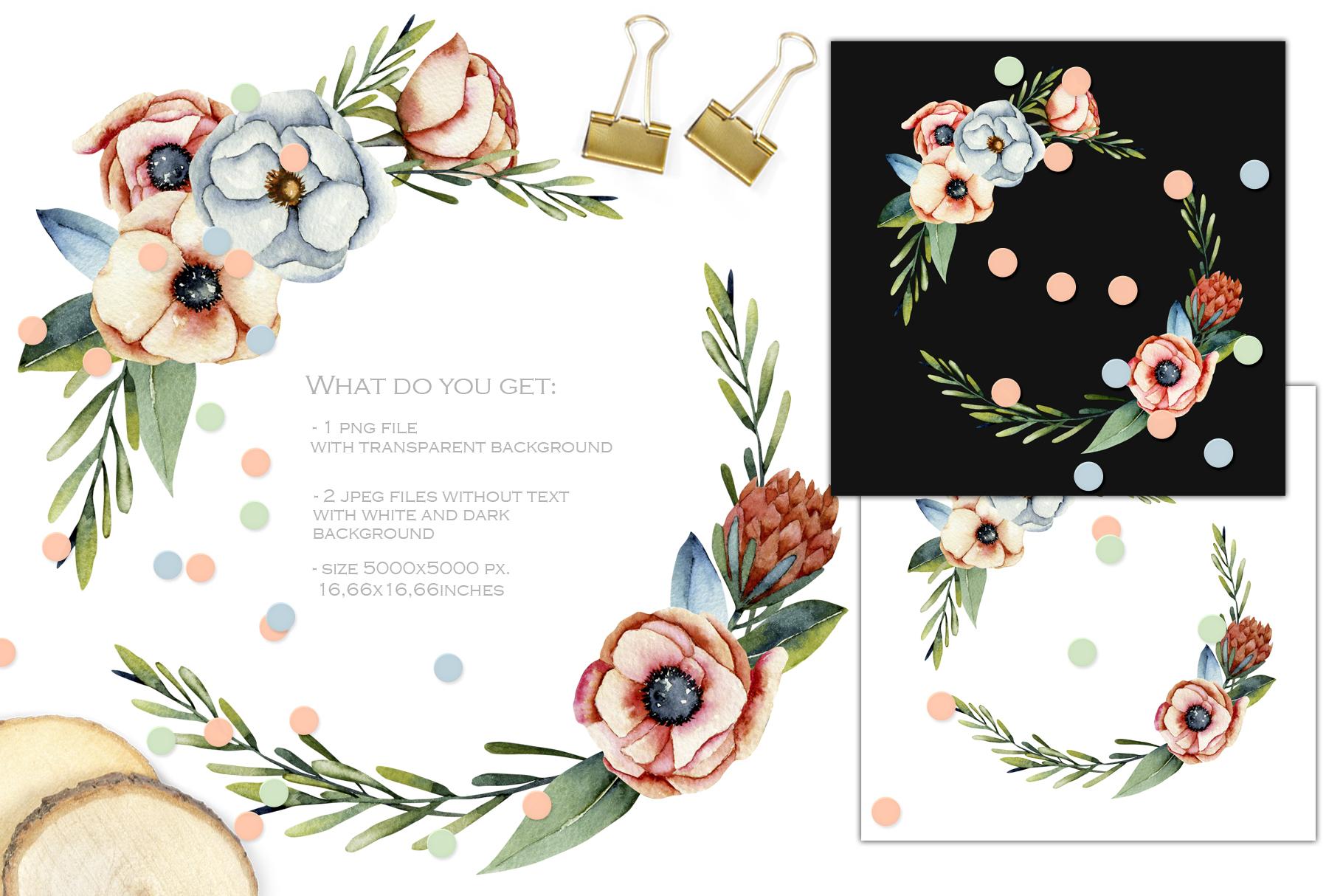Vermont flowers. Wreath#3 example image 2