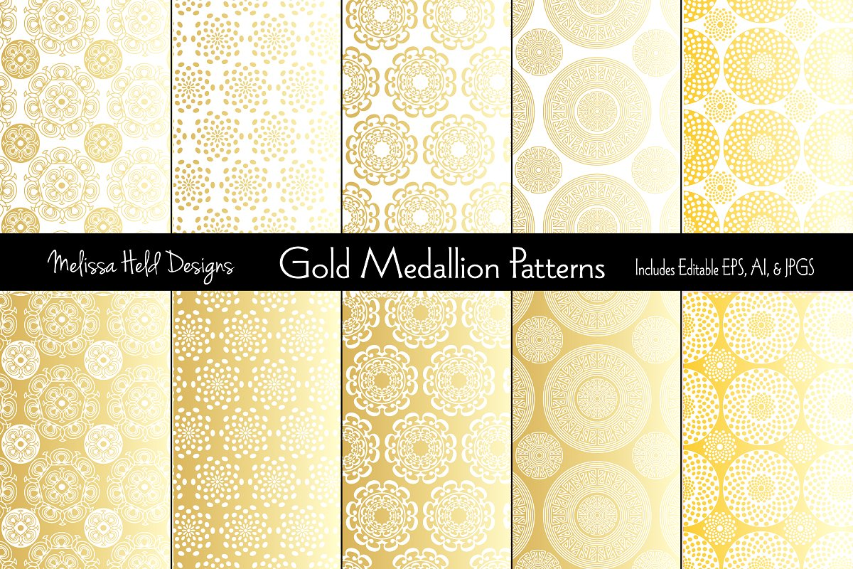 Gold Medallion Patterns example image 1