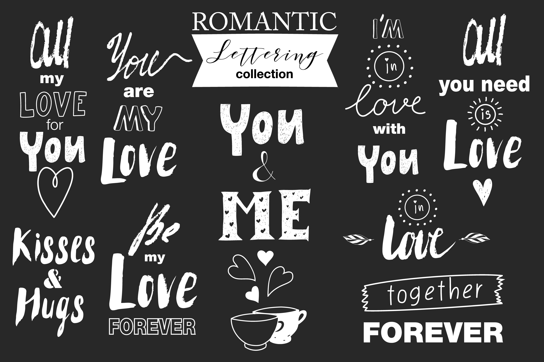 Hand drawn Romantic design kit example image 5