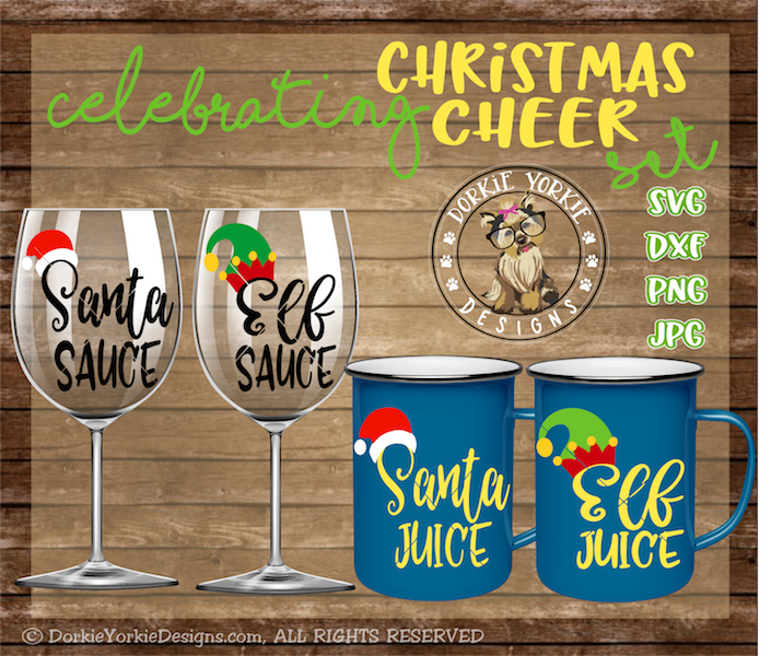 Christmas Cheer Bundle - Santa, Elf, Juice, sauce example image 1