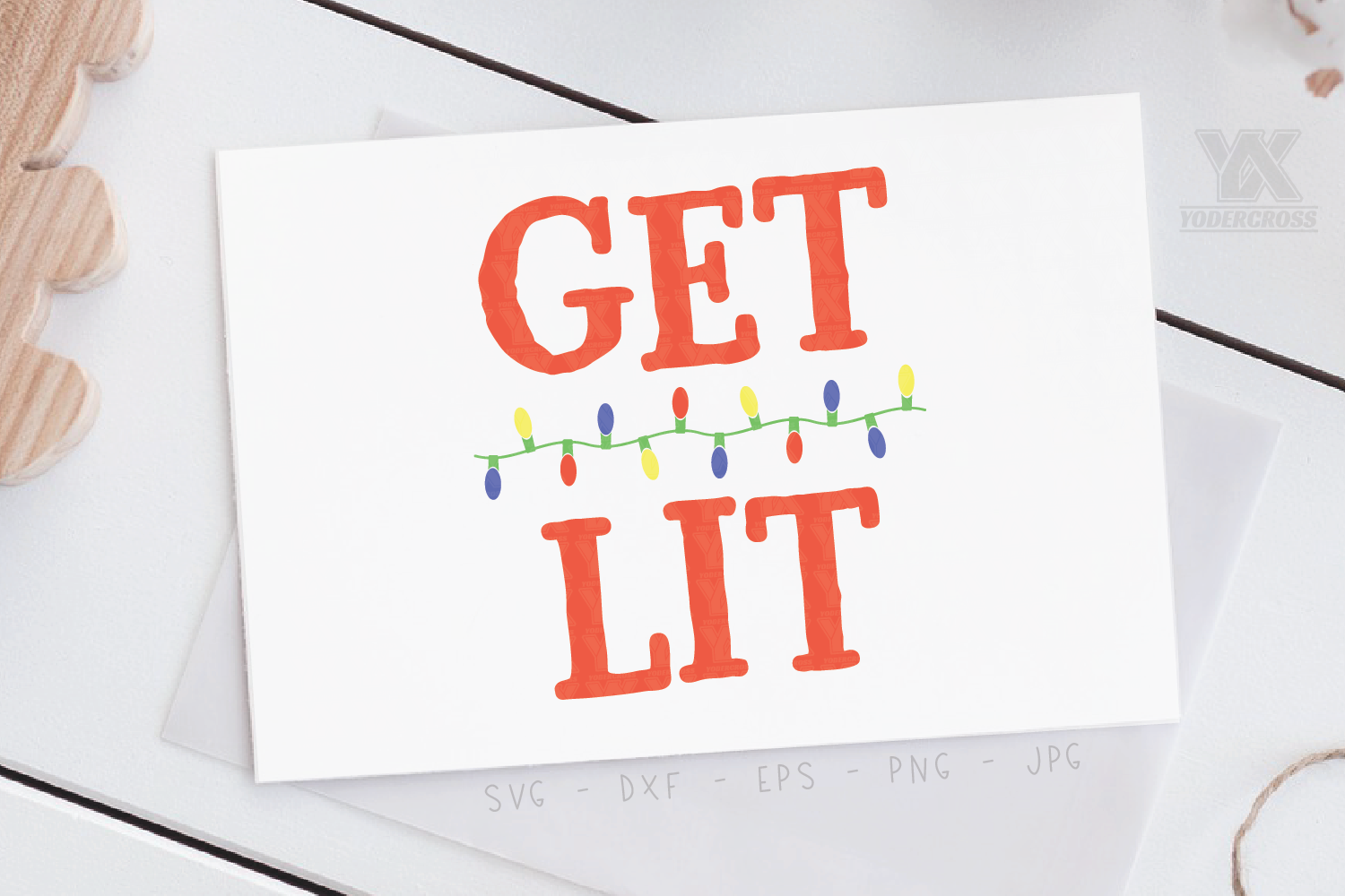 Get Lit Holiday SVG example image 2