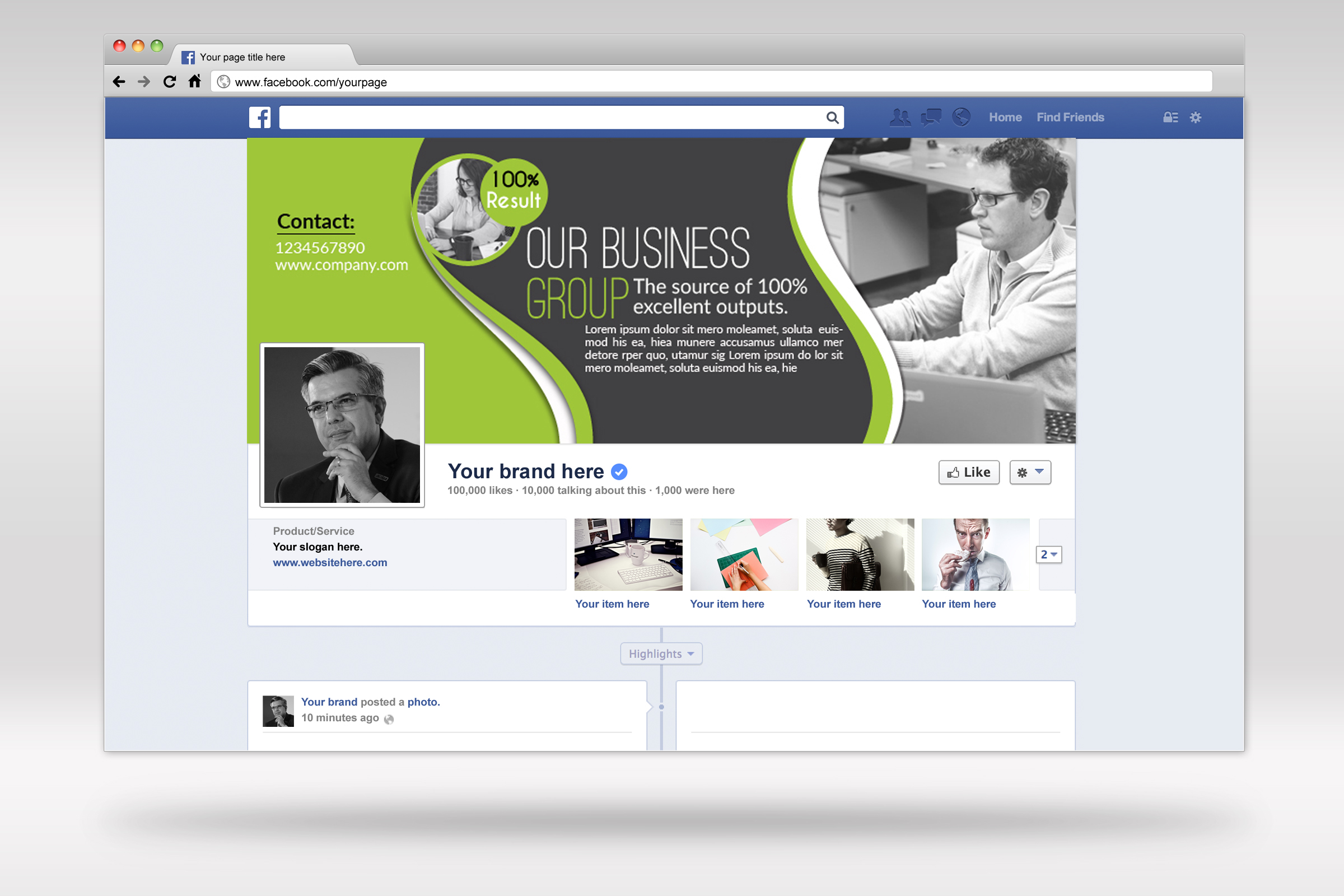 Business Facebook Timelines 04 example image 1