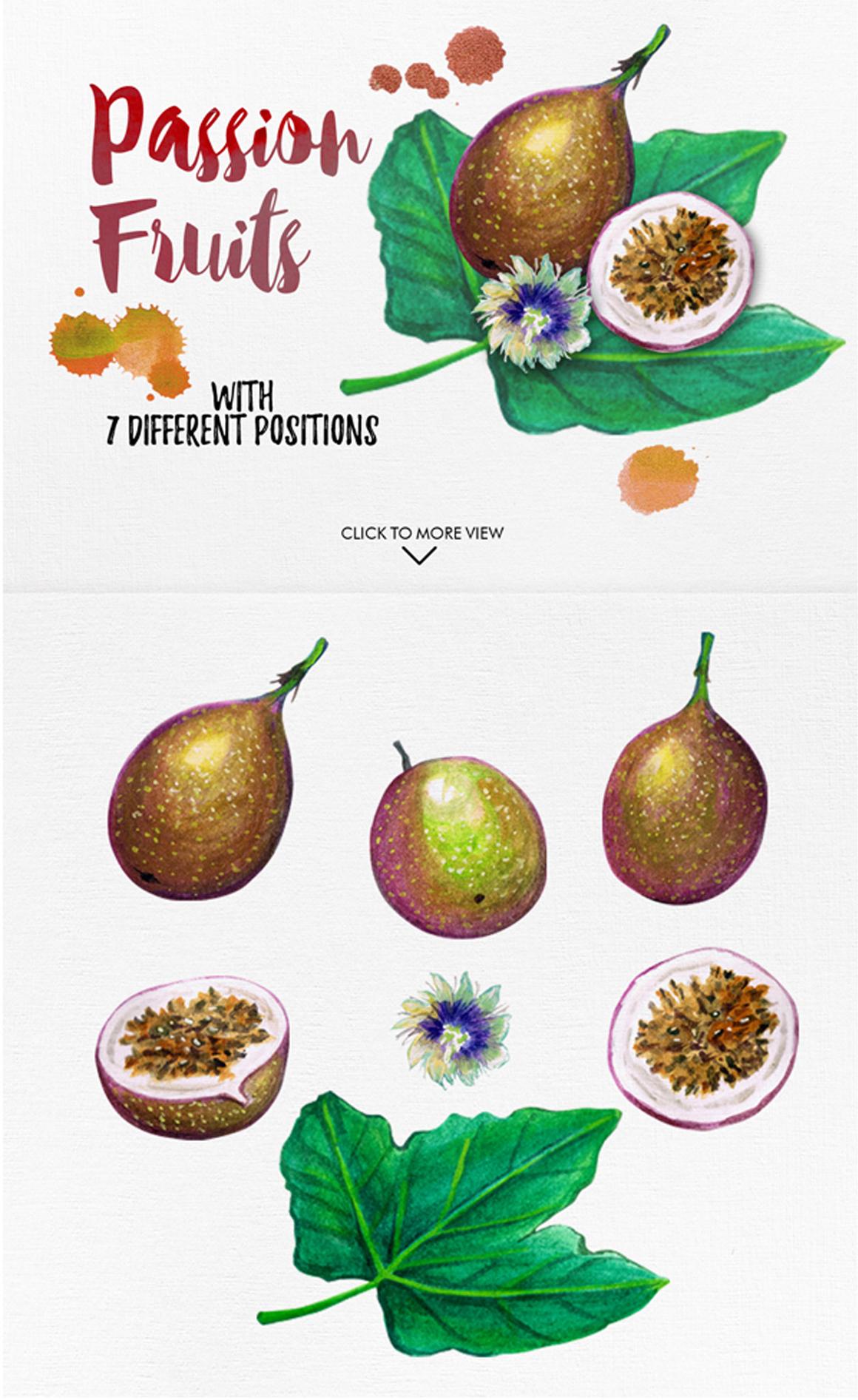 watercolor fruits vol. 6 example image 2