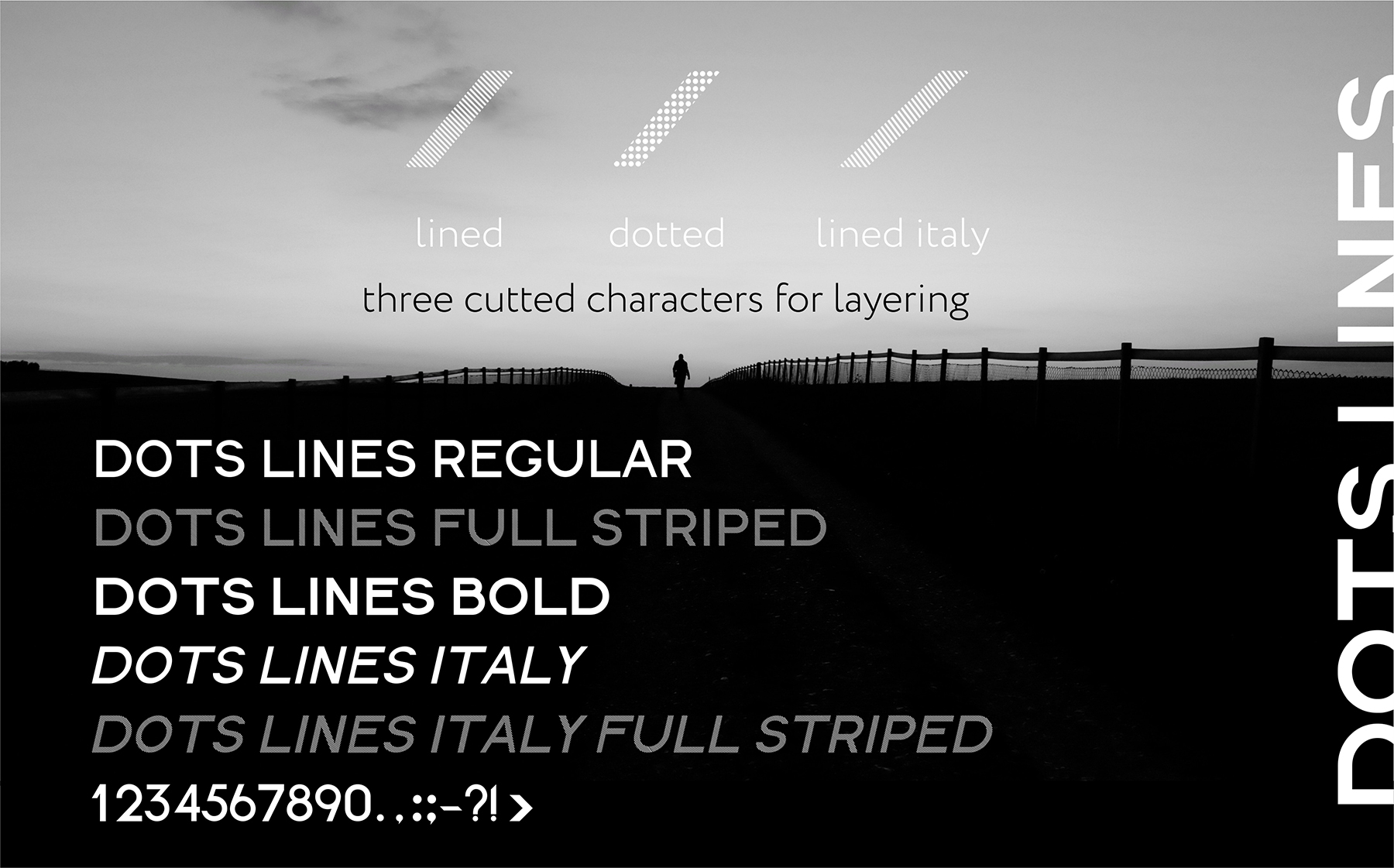DOTS & LINES uppercase modern font example image 6