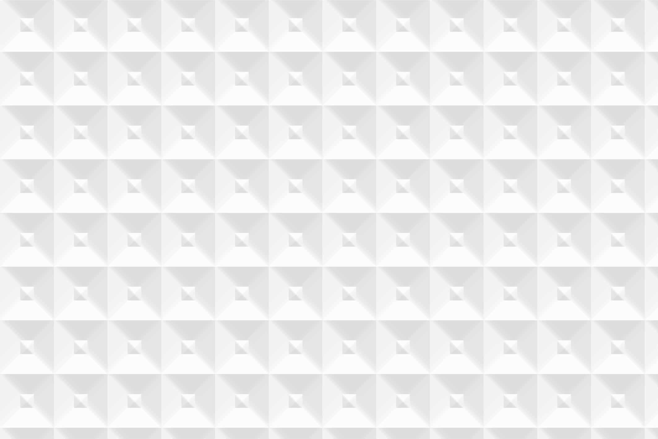 Geometric white 3d seamless textures example image 2