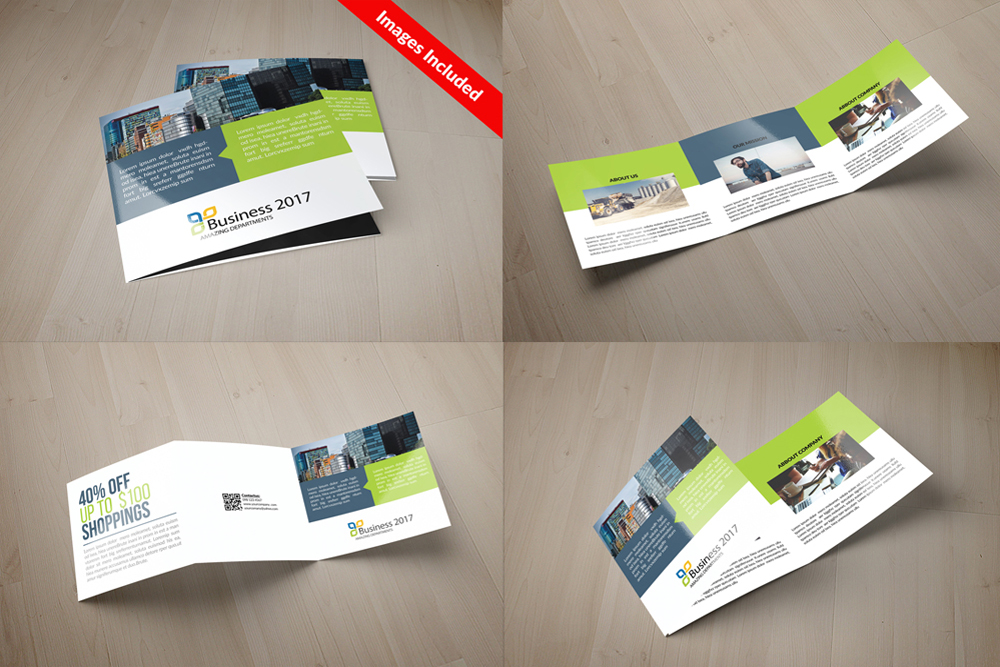 25 Square Trifold Business Brochures Bundle example image 13