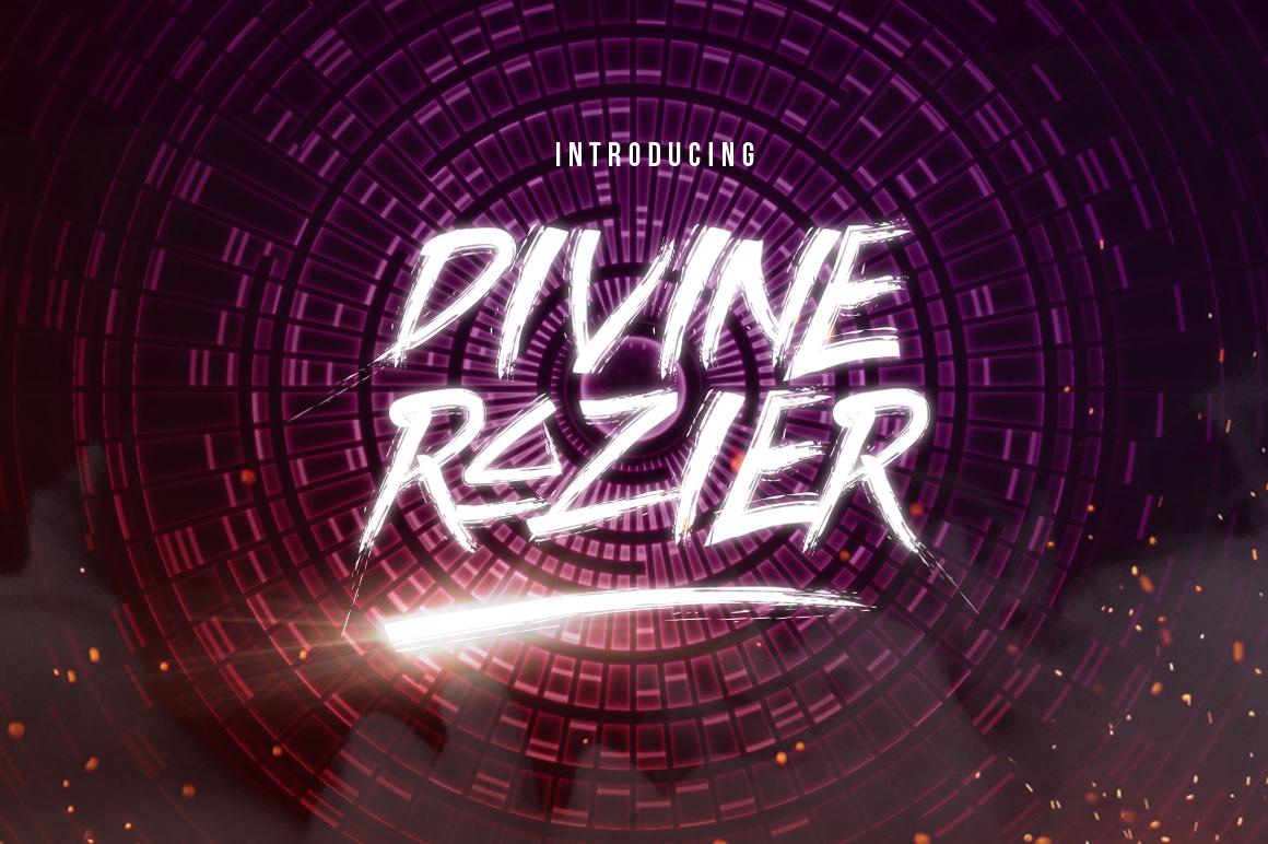 Divine Razier Font  Intro Sale!  example image 1