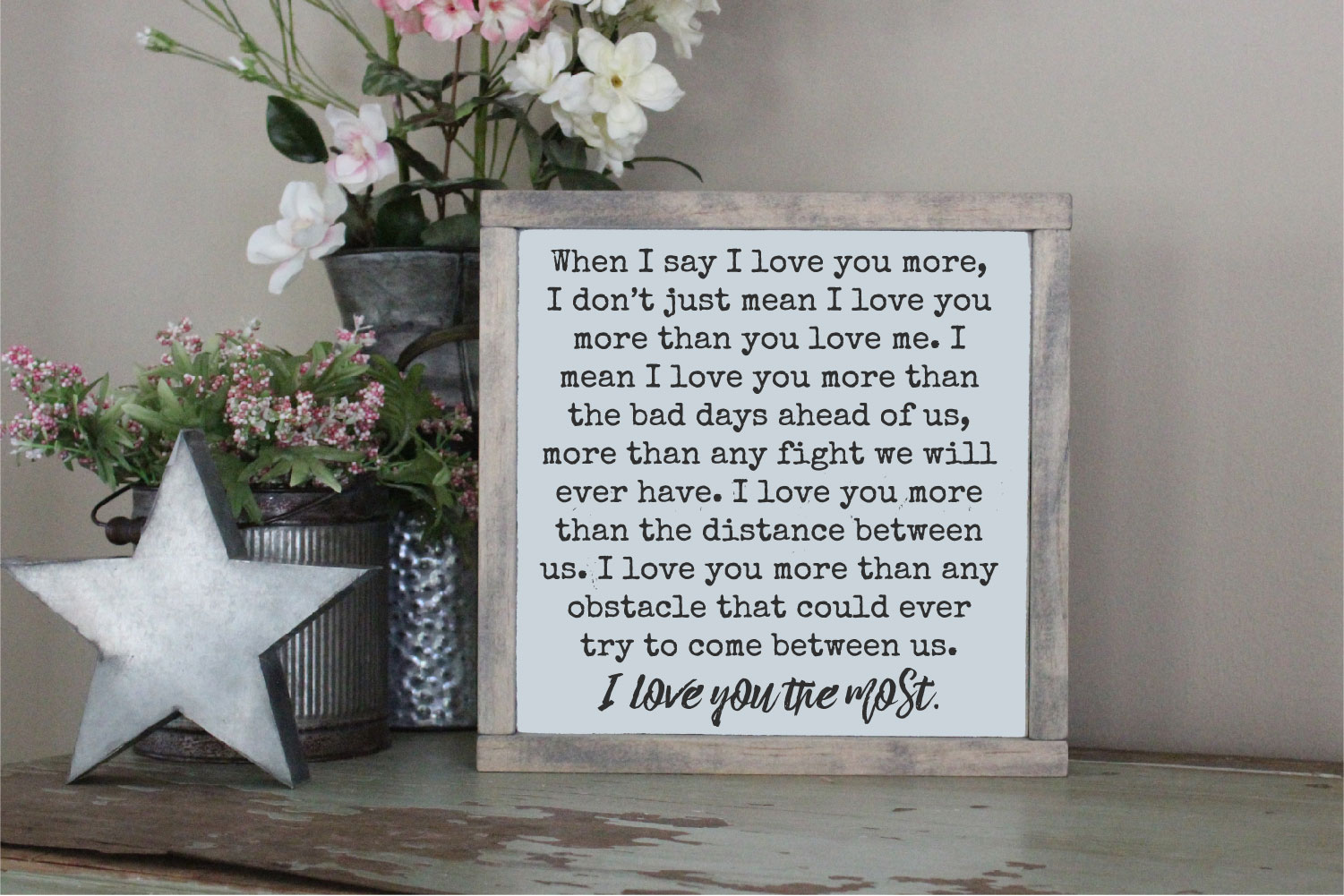 When I Say I Love You More SVG, Love Sublimation example image 1