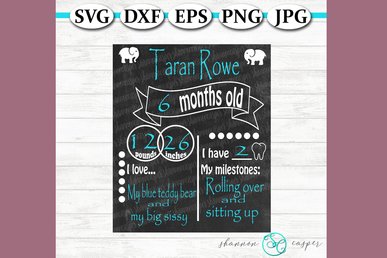 Elephant Baby Milestone Chart example image 1