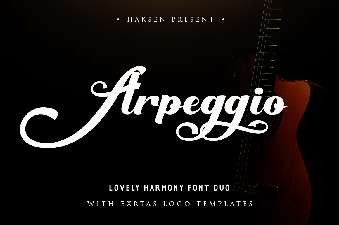 Arpeggio l Font Duo&6 Logo Templates example image 1