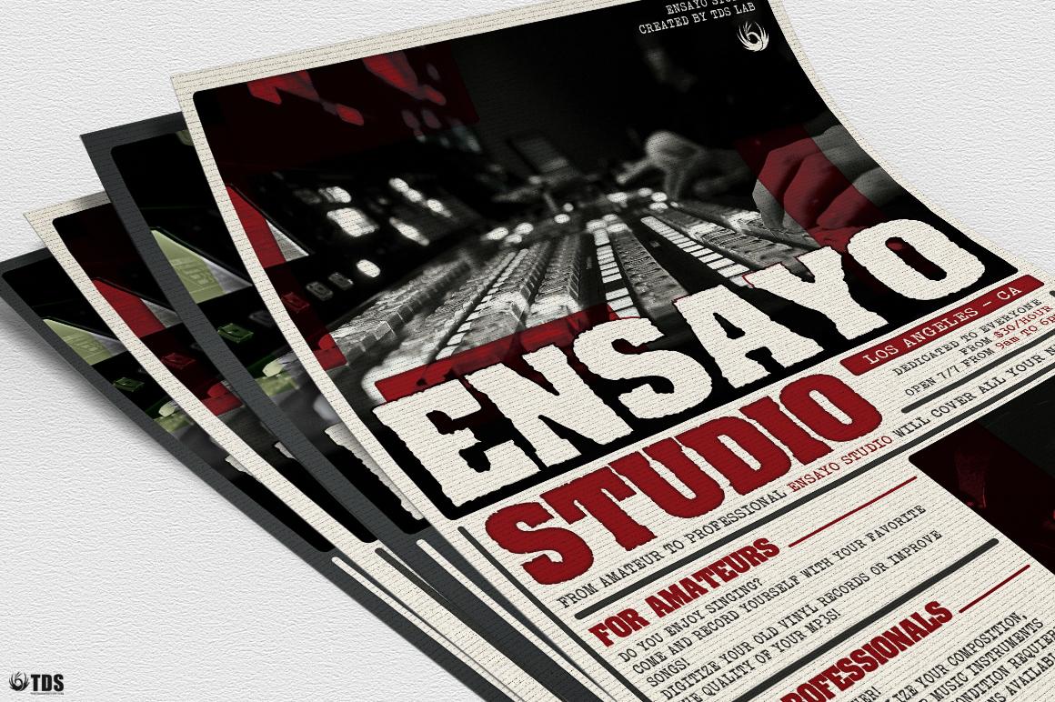 Music Studio Flyer Template example image 5