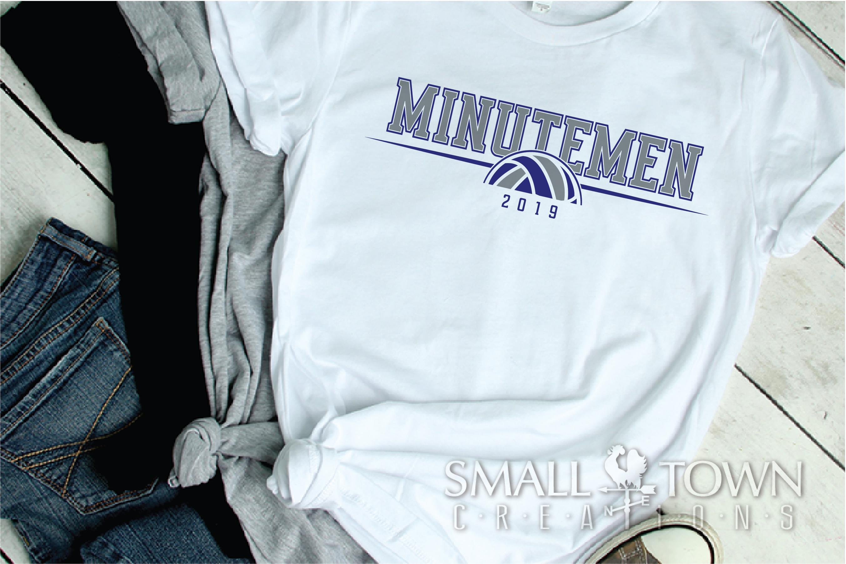 Minutemen Volleyball, Logo, Team, Sport, PRINT, CUT & DESIGN example image 2