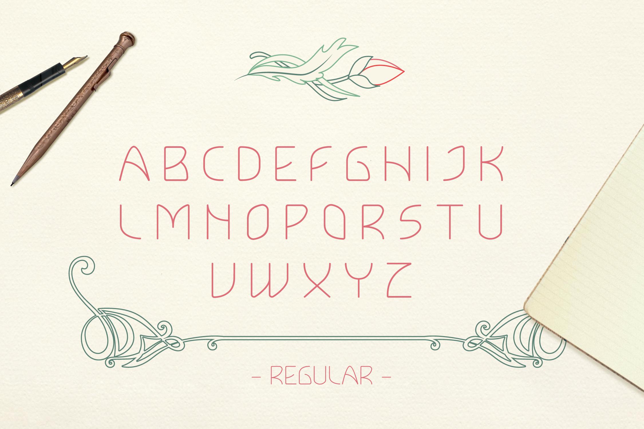 Lokka Uppercase Font example image 2