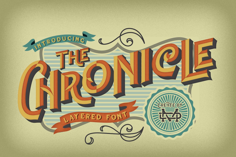 The Chronicle - Layered Typeface example image 1