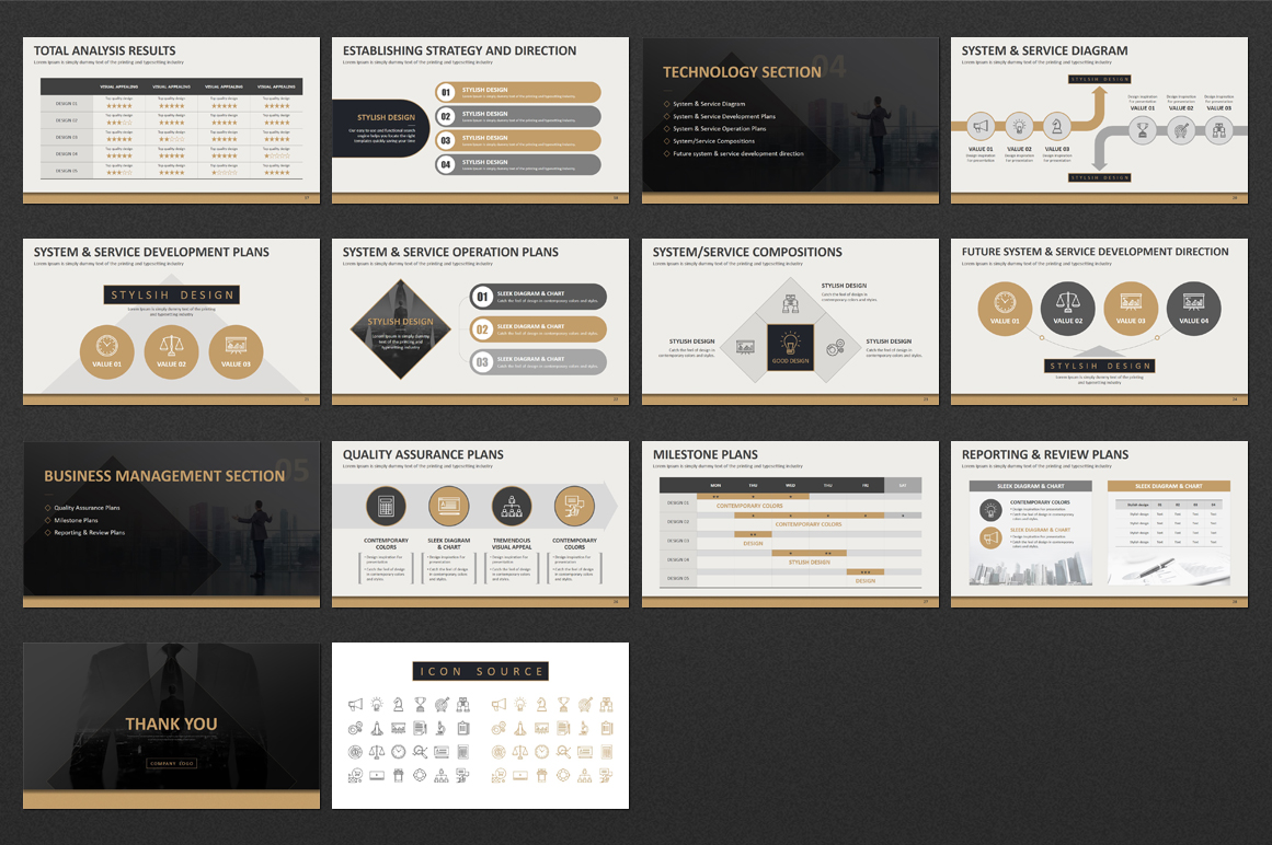 Business Strategy PowerPoint Template example image 3