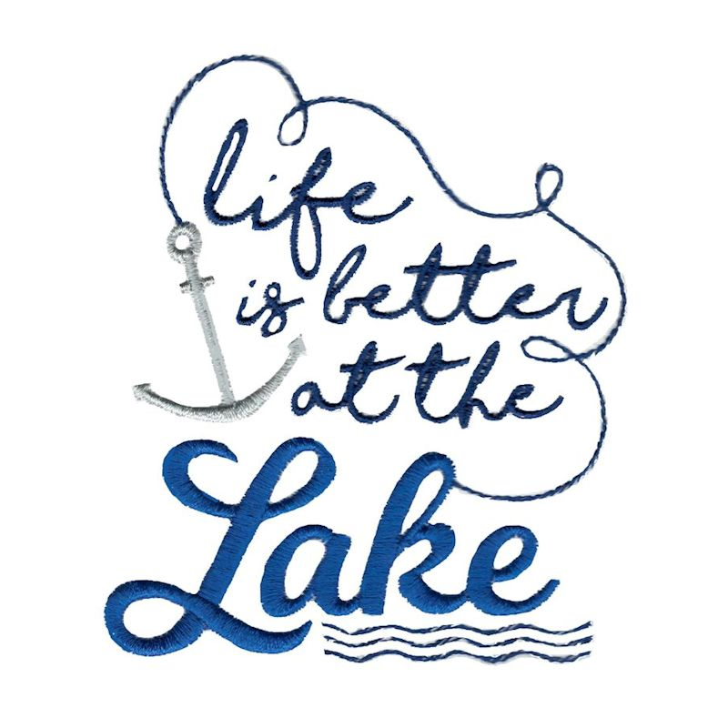 Lake House - 15 Machine Embroidery Designs example image 2