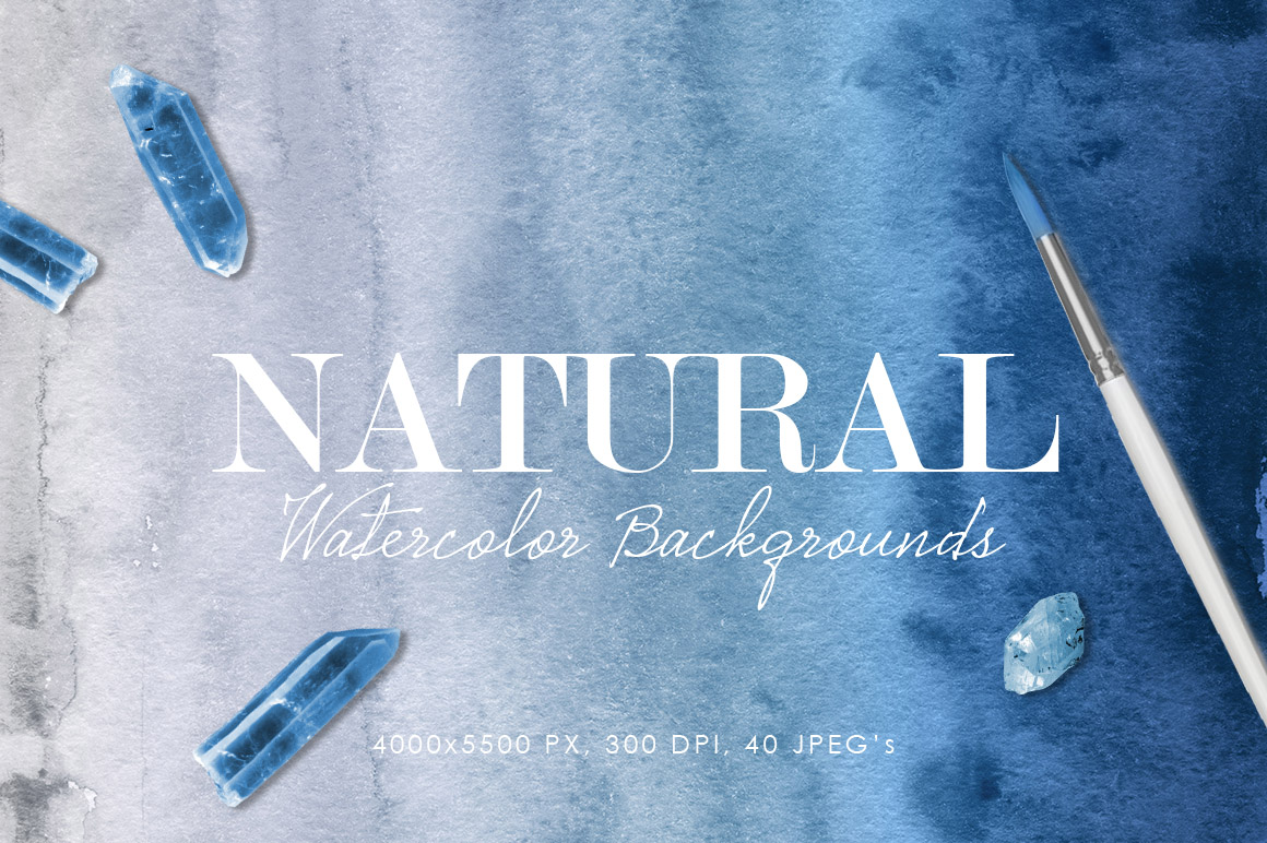 Natural Watercolor Ombre Backgrounds example image 1