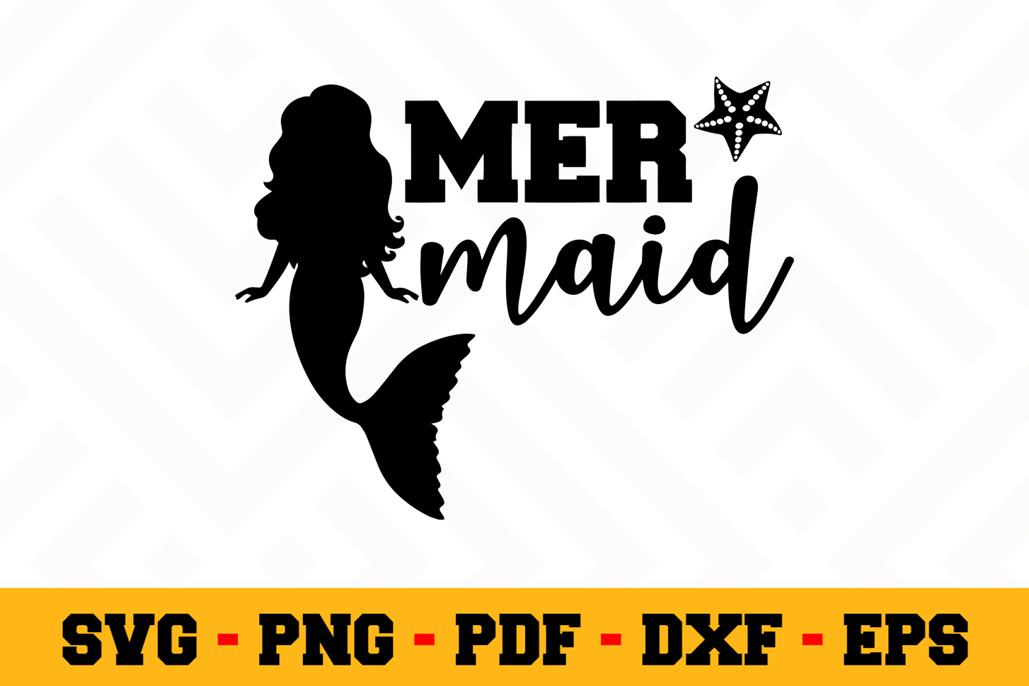 Mermaid SVG Design n528 | Mermaid SVG Cut File example image 1