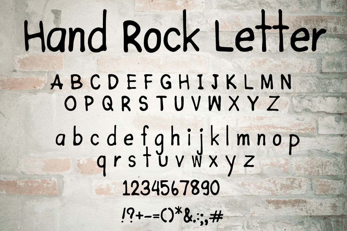 Hand Rock letter example image 2