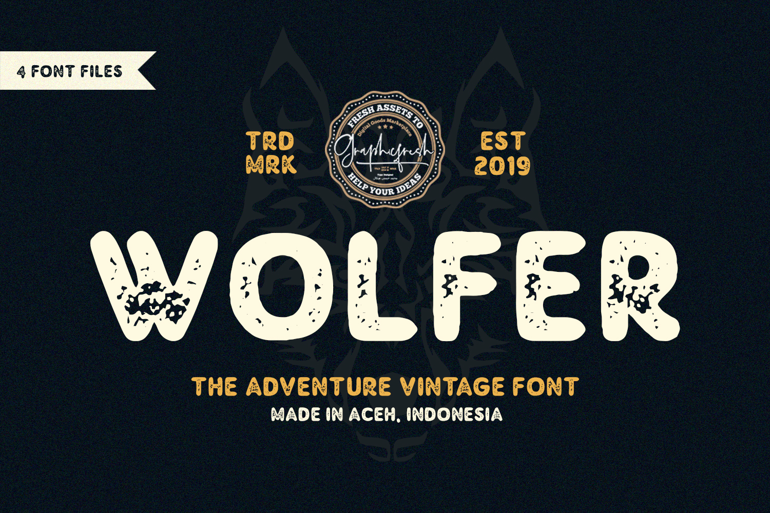 Wolfer | The Adventure Vintage Font example image 1