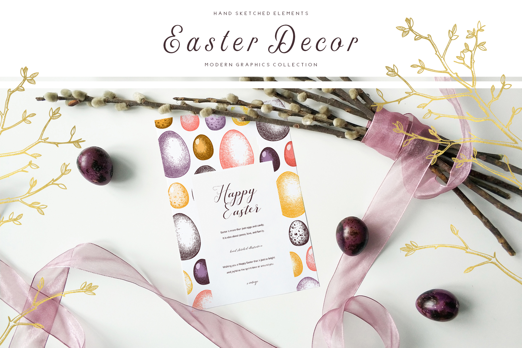 Hand Drawn Easter Design Elements example image 2
