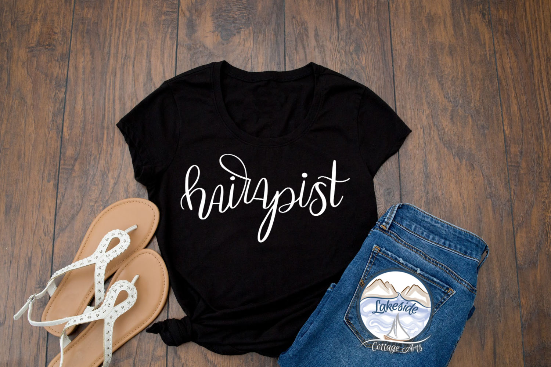 Hairapist - Handlettered Hair Stylist SVG Design example image 2