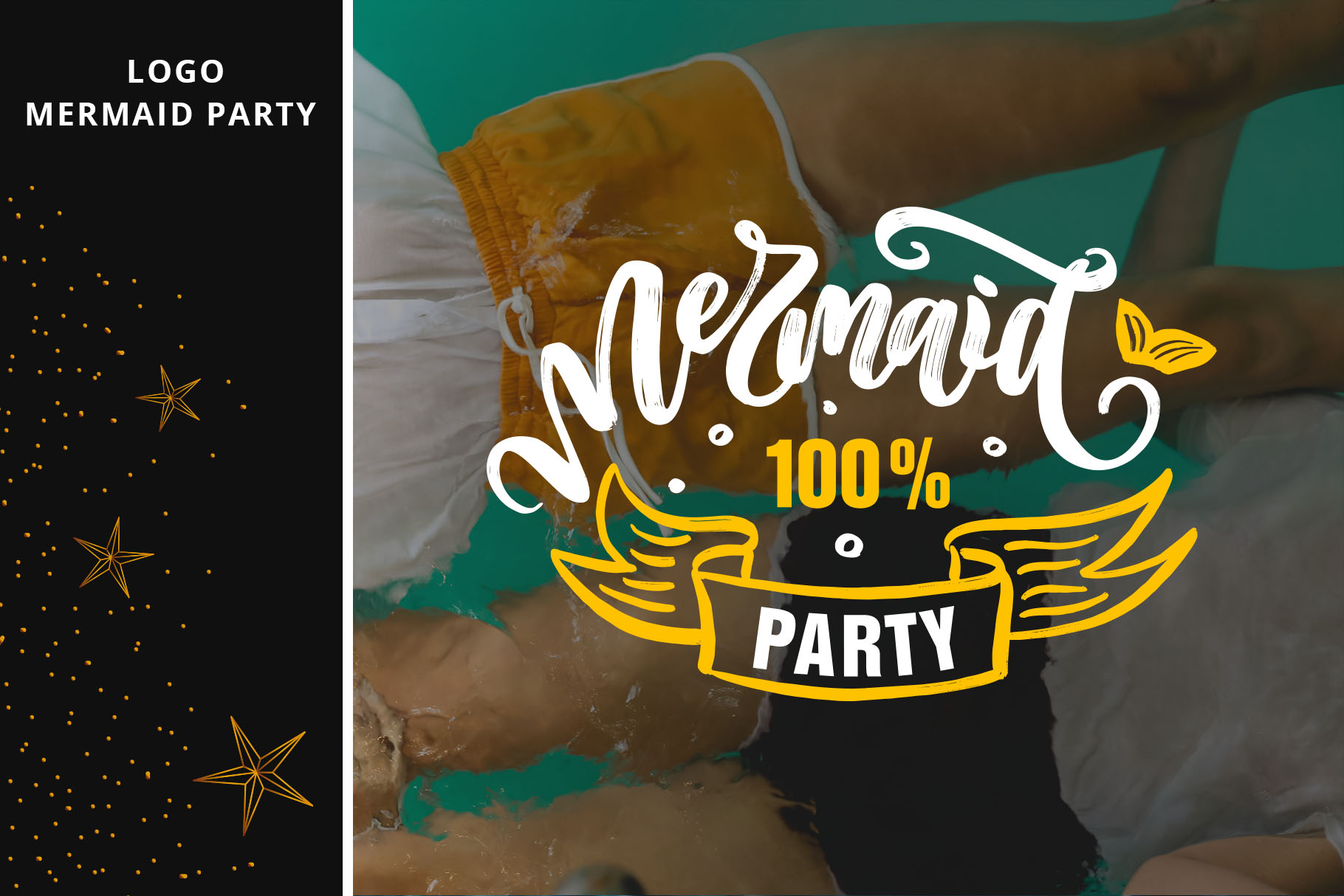 Party lettering, logos set example image 9