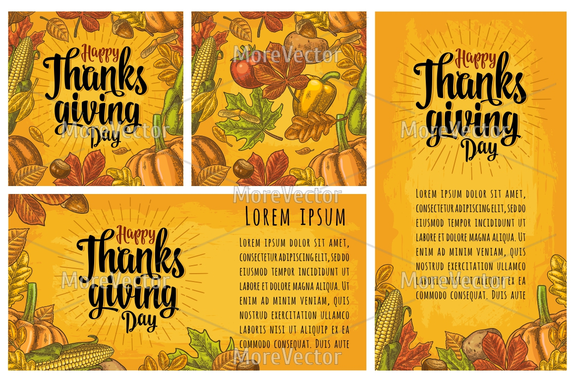 Seamless pattern and poster with Happy thanksgiving Day  example image 1