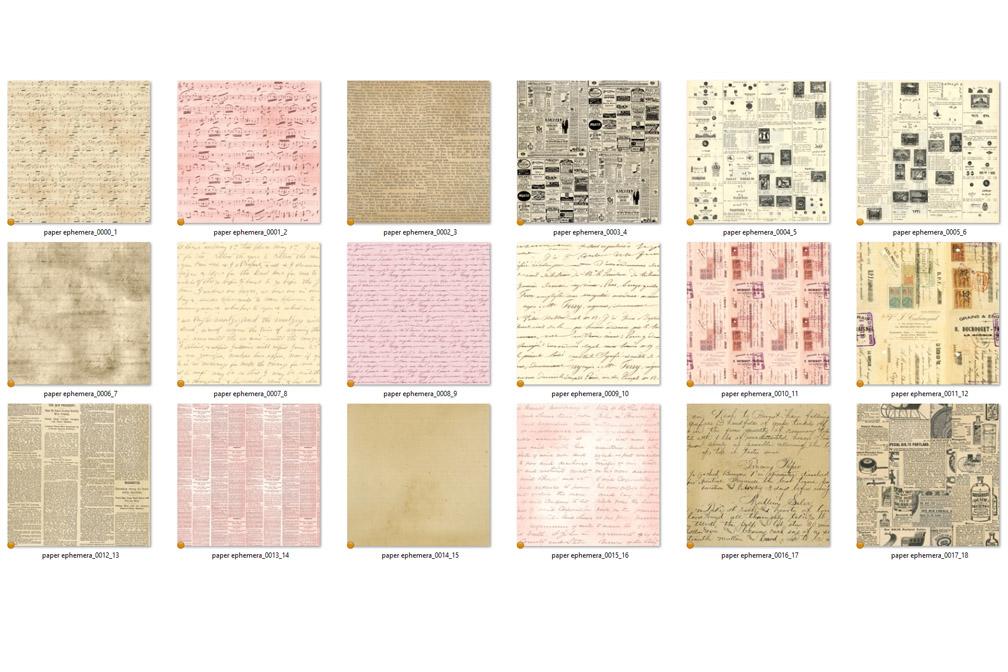 Seamless Paper Ephemera example image 3