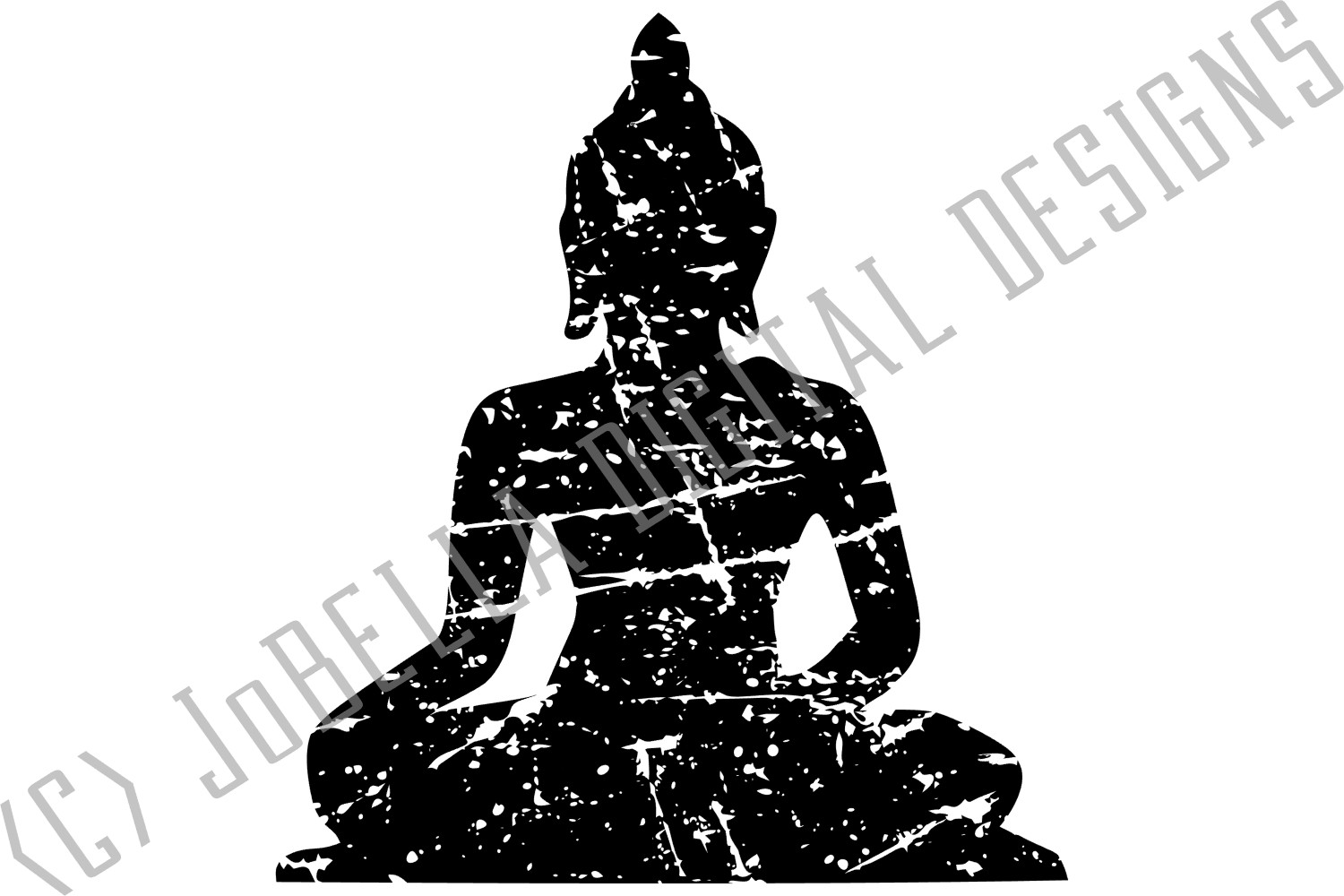 Distressed Buddha SVG, Sublimation Design and Printable example image 3