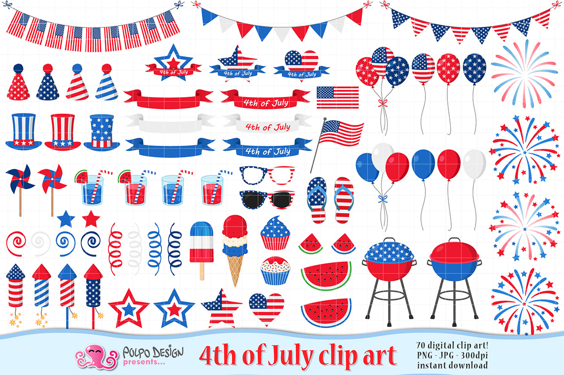 4th of July clip art example image 1
