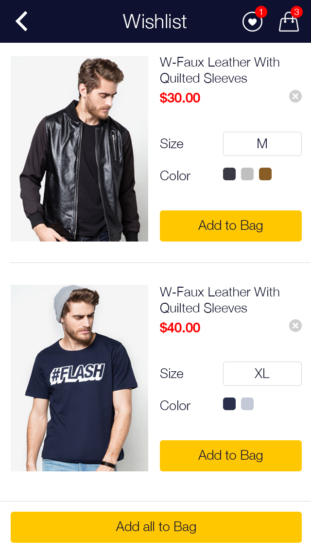 Zalora Shopping UI for e-commerce example image 8