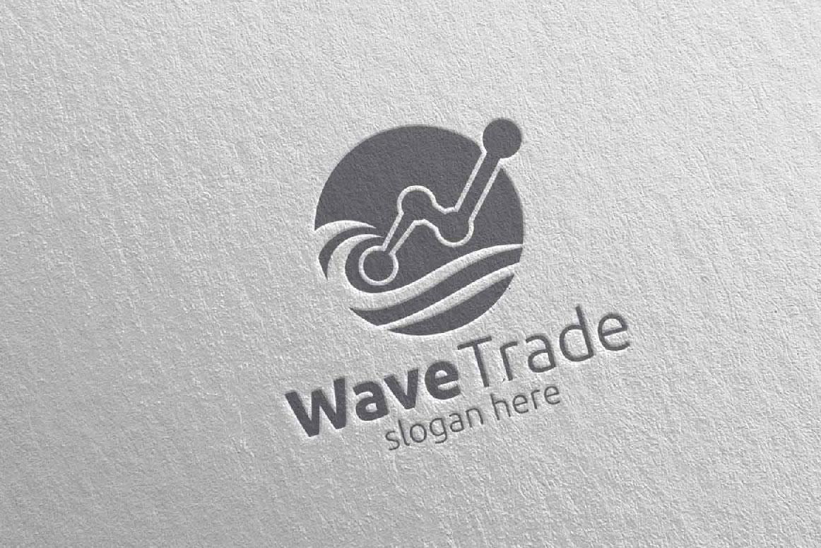 Wave Trade Marketing Financial Advisor Logo Design 26 example image 5