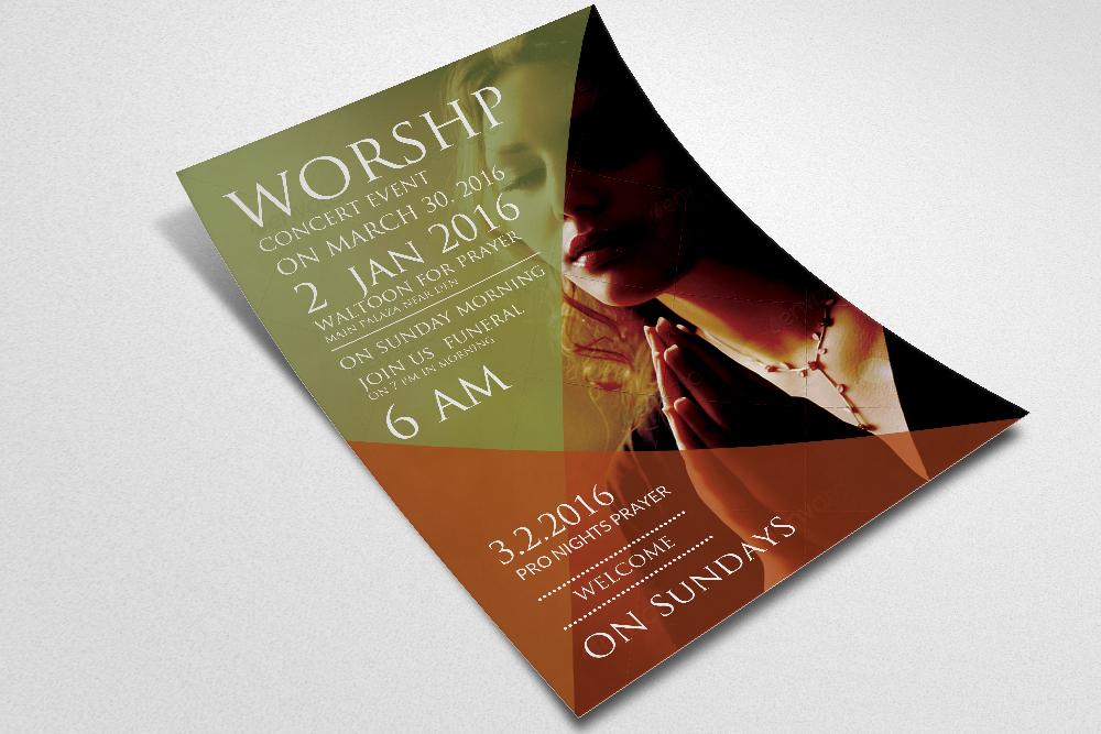 Worship Church Flyer example image 3