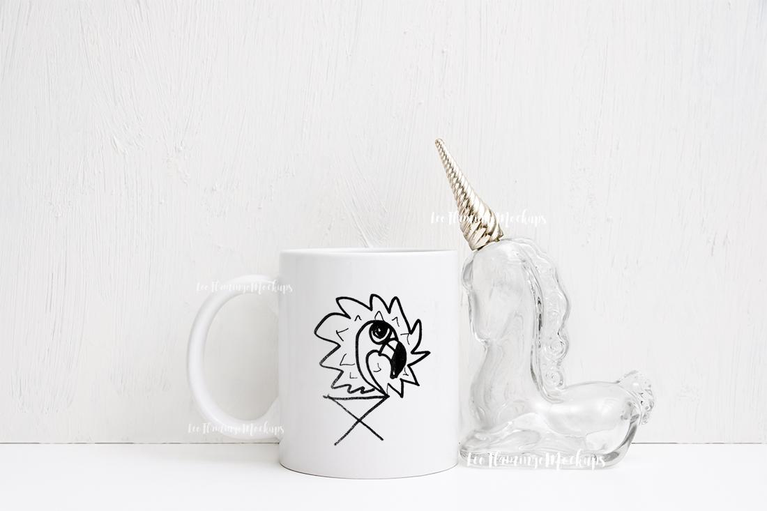 White coffee 11oz rustic mug mockup smart object mugs example image 6