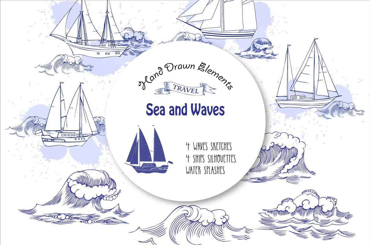Sea and Waves example image 1
