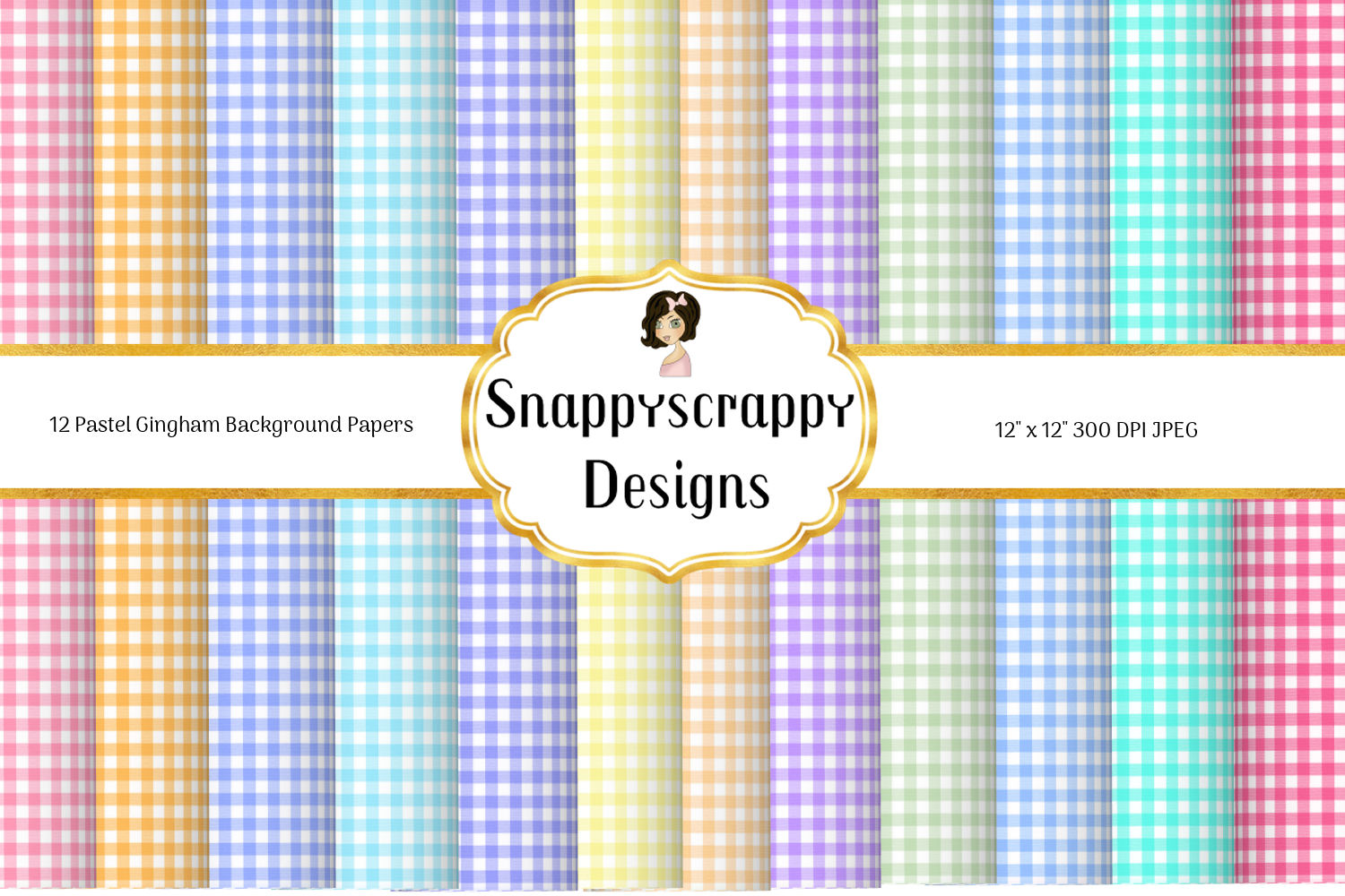 Gingham Background Papers example image 1
