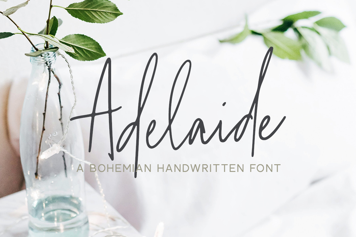 Adelaide | A Bohemian Handwritten Font example image 1